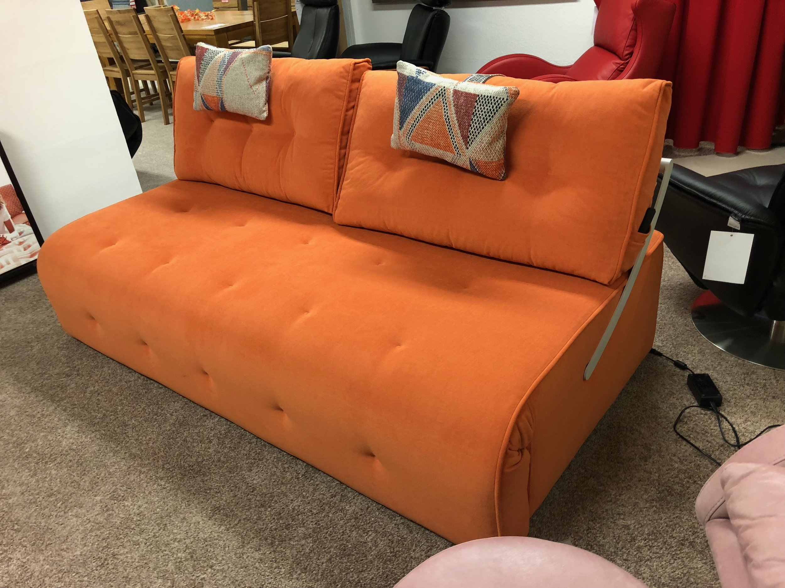 Schlafsofa orange elektrisch